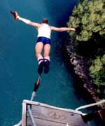 The bungy jump is this trip's most talked-about event.